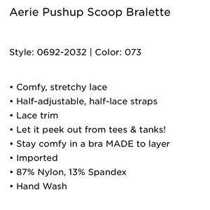 aerie Intimates & Sleepwear - New Aerie Scoop Push-Up Bralette - Small
